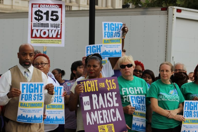Group protesting $15 minimum wage