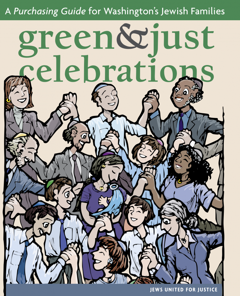 green and just celebrations logo