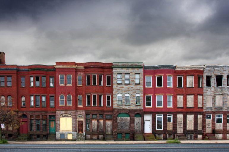 Baltimore townhouse row