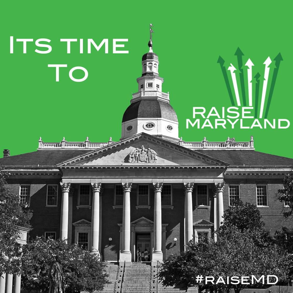 graphic reading it is time to raise maryland