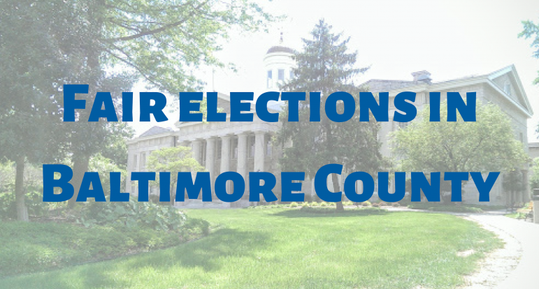 graphic reading fair elections in baltimroe county