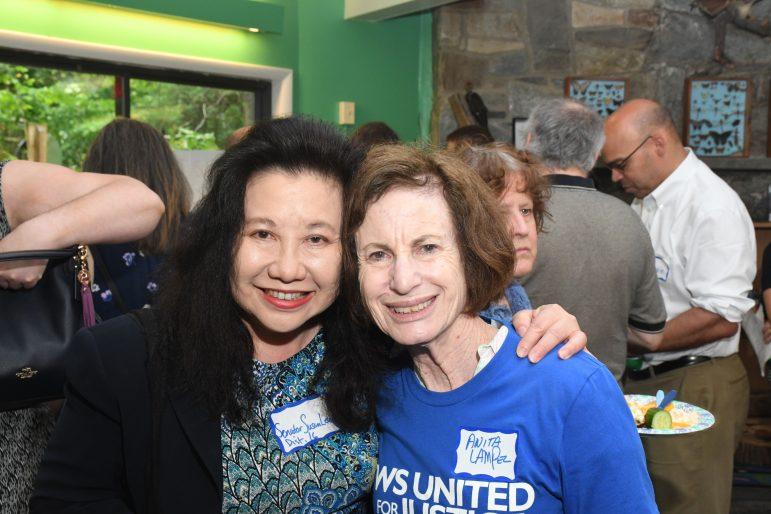 Senator Susan Lee and JUFJ leader Anita Lampel