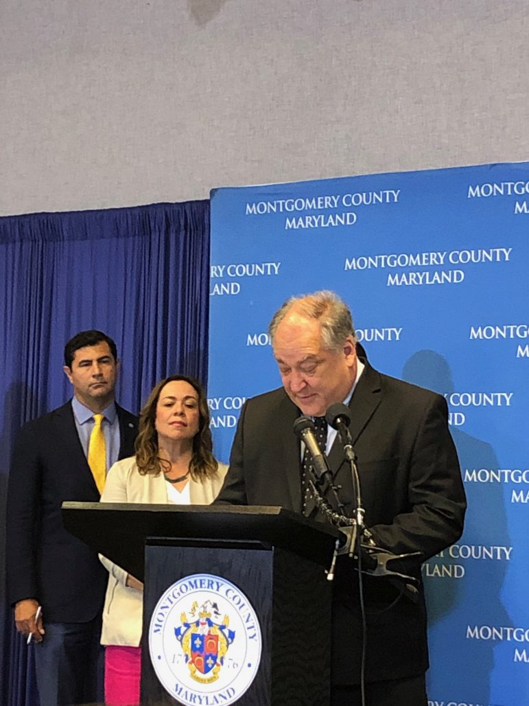 Marc Elrich, Executive of Montgomery County, speaks at Trust order signing