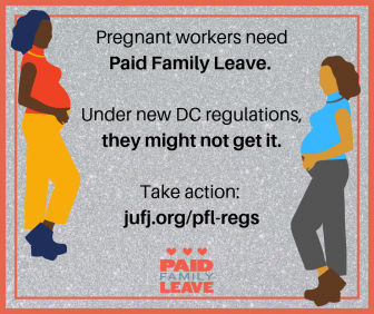 graphic in support of paid family leave