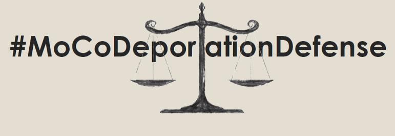 graphic image reading #MoCoDeportationDefense