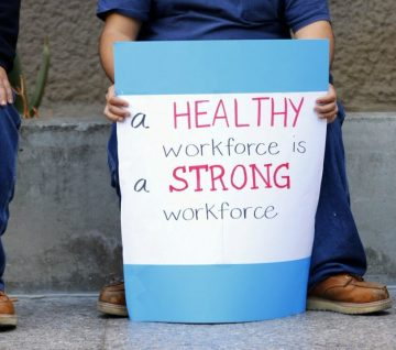 Sign: A healthy workforce is a strong workforce.
