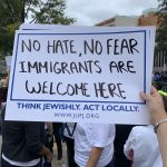 Sign: No Hate, No Fear, Immigrants Are Welcome Here