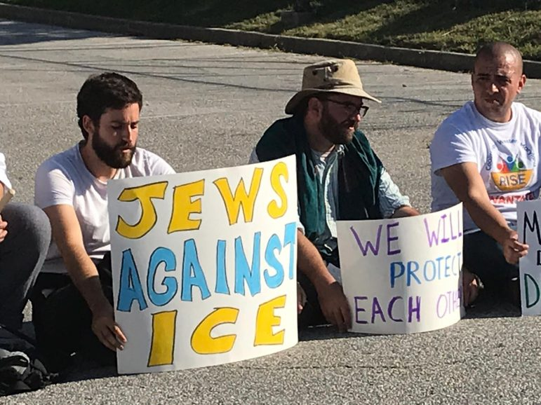jews stage a sit in to protest ice