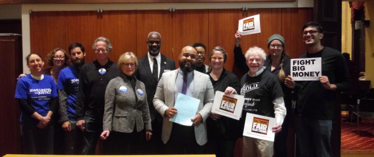 advocates pose in support of fair elections