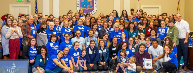 Over 100 JUFJers smile for the camera in Annapolis. Photo by Mark Wolff.