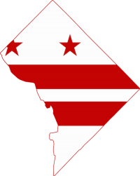 DC flag in the shape of DC