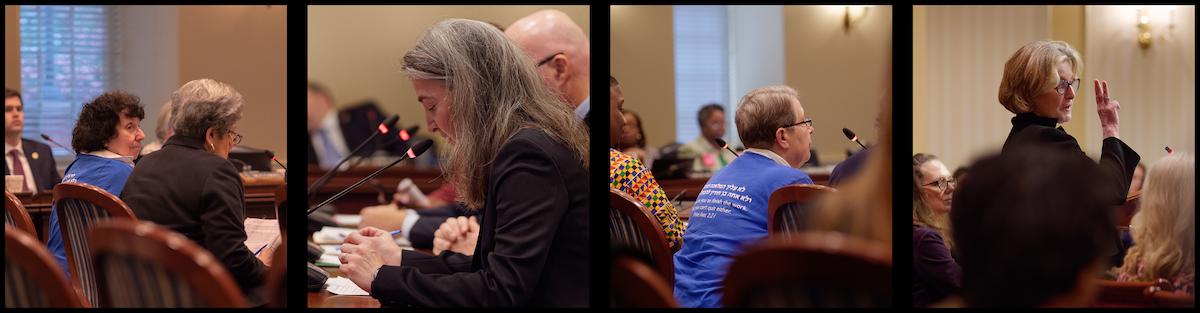 JUFJ members testifying in Annapolis in 2020