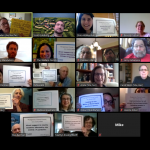 JUFJ members on Zoom advocate for a moral Montgomery County budget