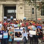 JUFJ and allies rally at the Wilson Building