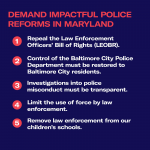 Demand impactful police reforms in Maryland