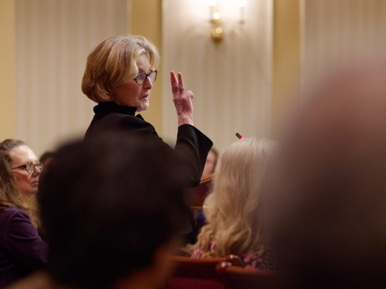 Toby Ditz testifying in Annapolis. Photo by Joe Magar.