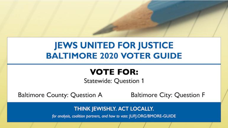 JUFJ Baltimore 2020 Voter Guide