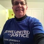 Carol Stern in JUFJ shirt