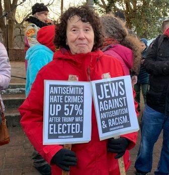 Jo Shifrin at a rally