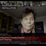 Phyllis testifies on Zoom to the Montgomery County Council