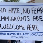 Sign: No Hate, No Fear, Immigrants