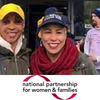 Dyana Forester headshot with National Partnership for Women and Families logo beneath