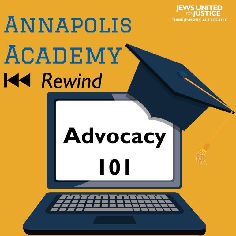 Annapolis Academy Rewind Advocacy 101 graphic