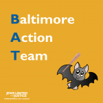 Baltimore Action Team with bat - yellow