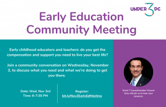 Under 3 DC: Early Education Community Meeting