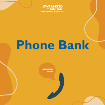 Phone bank text with graphic of a phone